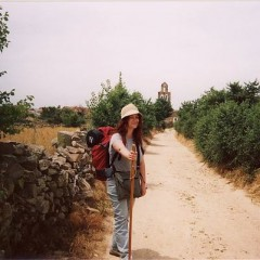 Tiina on the Camino de Santiago in Spain