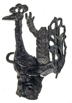 Image of Peacock pilgrim badge - BM 2001,0702.2 (© Trustees of the British Museum) (click to enlarge)