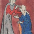 A depiction of medieval brain surgery (early 14th C, BL Sloane 1997 fo. 2r.)